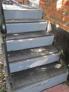 """Non-slip Rubber Stair Treads - 36"""" x 12"""" x 1/2"""" - 4 available"""
