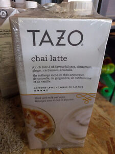 New Sealed TAZO Chai Latte 3-pack