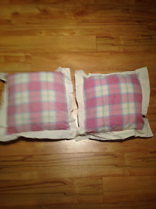 Two pink pastel pillows for sale......................