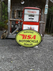 LARGE METAL BSA MOTORCYCLE SIGN