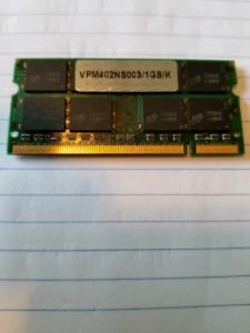 Laptop Memory 1GB upgrade