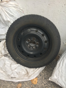 Winter Tires (205/55R16), with steel rims