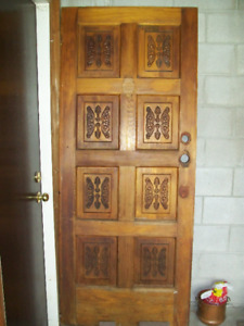 """SOLID WOOD DOOR with Original HARDWARE Vintage 34"" x 82"""""