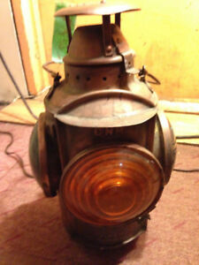 CNR Railway Lantern made in Montreal Canada Antique Vintage $450