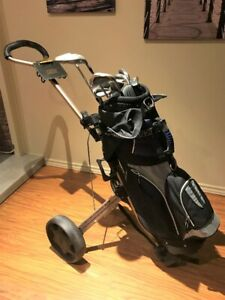 Men's Golf Clubs and Cart