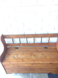 Amish? Storage bench. Antique?