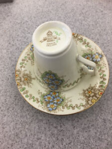 Delphine china cup and saucer