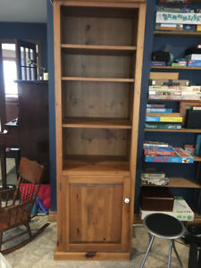 Three section corner wall unit - solid pine