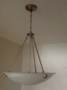 BRUSHED PEWTER LIGHT FIXTURE