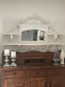 Shabby Chic wall shelf with mirror.  Purchased at Honey B's