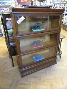 OAK 5 SECTION BARRISTER'S STACKING BOOKCASE