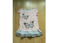 Next pink butterfly top age 9