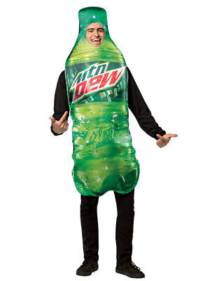 Adult Mountain Dew Bottle Costume (Mountain Dew Costume)