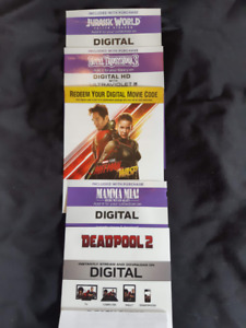 5 Great Movies - Digital Codes Only