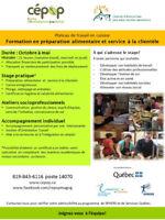 Formation / Stage - cuisine et service à la clientèle