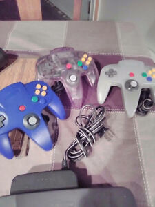 Nintendo 64 console, 3 Controllers & 4 most popular gams
