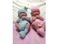 Two little babies dolls
