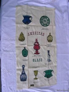 Vtg-Linen-Tea-Towel-Dish-Cloth-KayDee-Unused-Kay-Dee-American-Art-Glass-US-Made