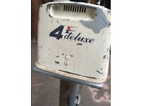 Evinrude deluxe 4hp outboard