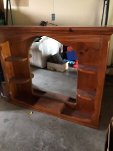 Solid wood dresser hutch