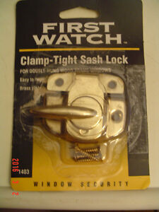 "BRAND NEW ""FIRST WATCH"" CLAMP-TIGHT SASH SAFETY LOCK #1403"