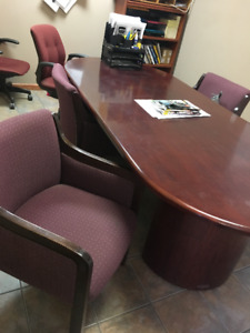 Large oval meeting desk