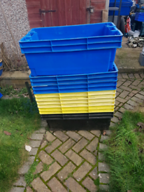 Crates eight stacking boxes very usefull