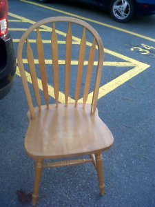 2 wood kitchen chairs