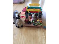 Sylvanian families farmers cart and pony