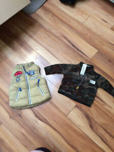 9 month vest and sweater