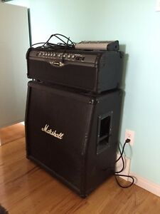 Line 6 Guitar Amp Head with Marshall Cabinet
