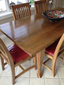 Solid Mango Wood - Table + 6 chairs