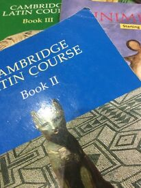 Cambridge and Minimus Latin books in excellent condition