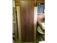 Walnut effect bath panel