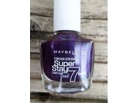 Maybelline Forever Strong Super Stay (840 Purple Reflects) Nail Polish Varnish