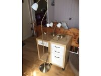 3 brass lamp set floor lamp and bedside lamp