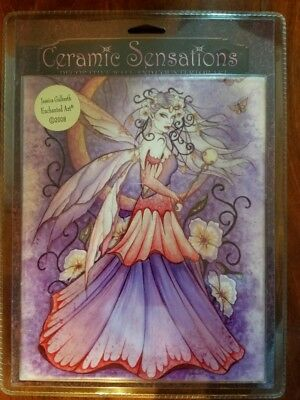 Jessica Galbreth Ceramic Sensations Tile Enchanted Moon Fairy Fantasy Art Décor