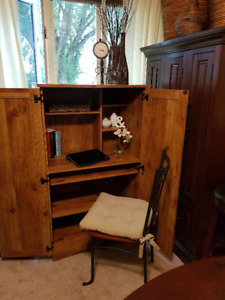 COMPUTER WORK STATION/ARMOIRE
