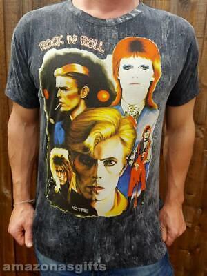 David Bowie era t-shirt 100% Cotton original artwork 'No Time' M L XL Quality