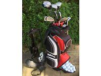 PROSIMMON full set of clubs,bag,trolley & many balls