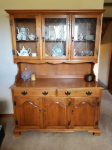 Hutch with glass upper doors