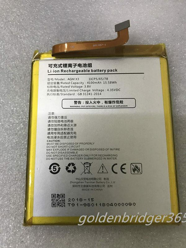 AGM X3 Genuine battery for AGM X3 smartphone Akku 1ICP5/65/7