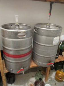 55, liters, 12,5 US gall. stainless steel wine containers.