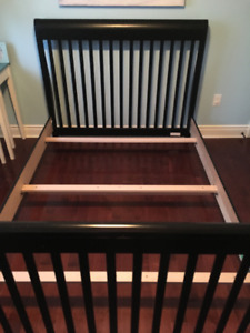 Double bed frame with boxspring - SOLID WOOD