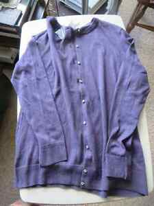 Alfred sUNG pURE Light purple cardigan elegant buttons Prince George British Columbia image 1