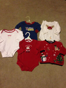 **Cute Christmas Clothes, size 3-6 months - $12**