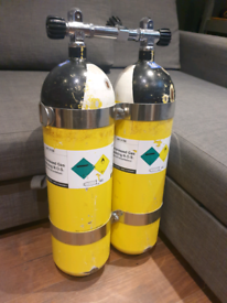 scuba diving twinset diving cylinders 232bar