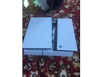 PlayStation 4 white outer casing