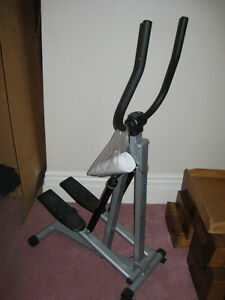 Fitnessclub folding stepper with digital monitor and manual
