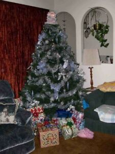 REDUCED PRICE  7ft CHRISTMAS TREE / LIGHTS / WHEELED STORAGE BAG